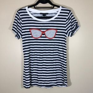 Lk NEW FRENCH CONNECTION striped sunglasses shirt
